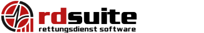 RDSuite – Rettungsdienstsoftware: Lager, MPG, Mitarbeiter, Fahrzeuge und mehr Logo